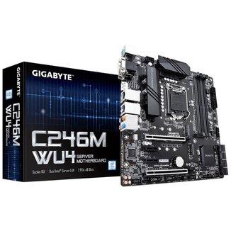 Gigabyte C246M-WU4 Server - (LGA 1151 - DDR4 ECC) - Chipset C246 - Para Servidor Xeon - Dual LAN