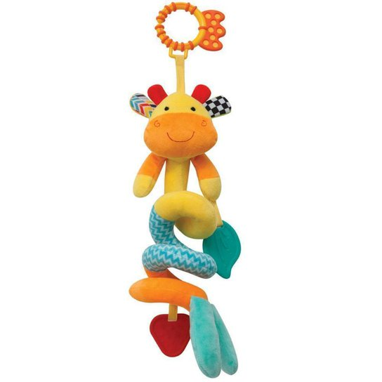 Girafinha Mola Happy Zoo Buba Baby - Colorido