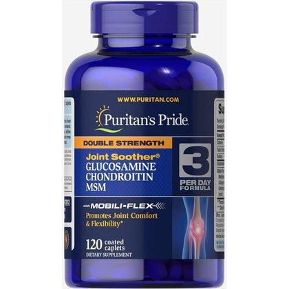 Glucosamina, Condroitina e MSM - Puritans Pride - 1500mg (120Cáp)