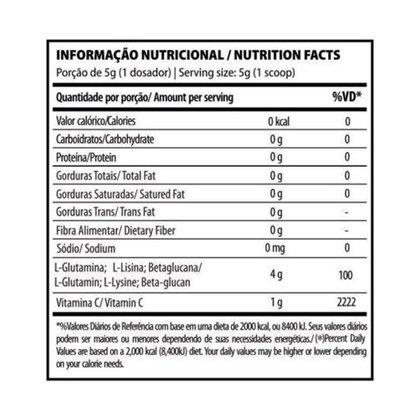 Gluta Imunity 300g (Glutamina + 1g De Vitamina C + Beta Glucana + Lisina)