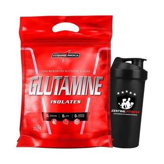 Glutamina Isolates 1kg + Coqueteleira - Integralmedica