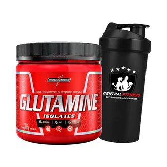 Glutamina Isolates 300g + Coqueteleira - Integralmedica
