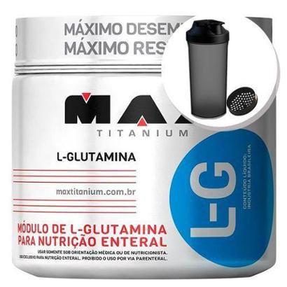 Glutamina L-G – 300g + Coqueteleira 600ml – Max Titanium