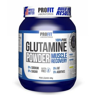 Glutamina Powder 100% Pura 600g Profit