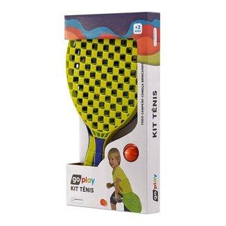 Go Play Multikids Kit Tênis c/ 2 Raquetes e Bolinha - BR949