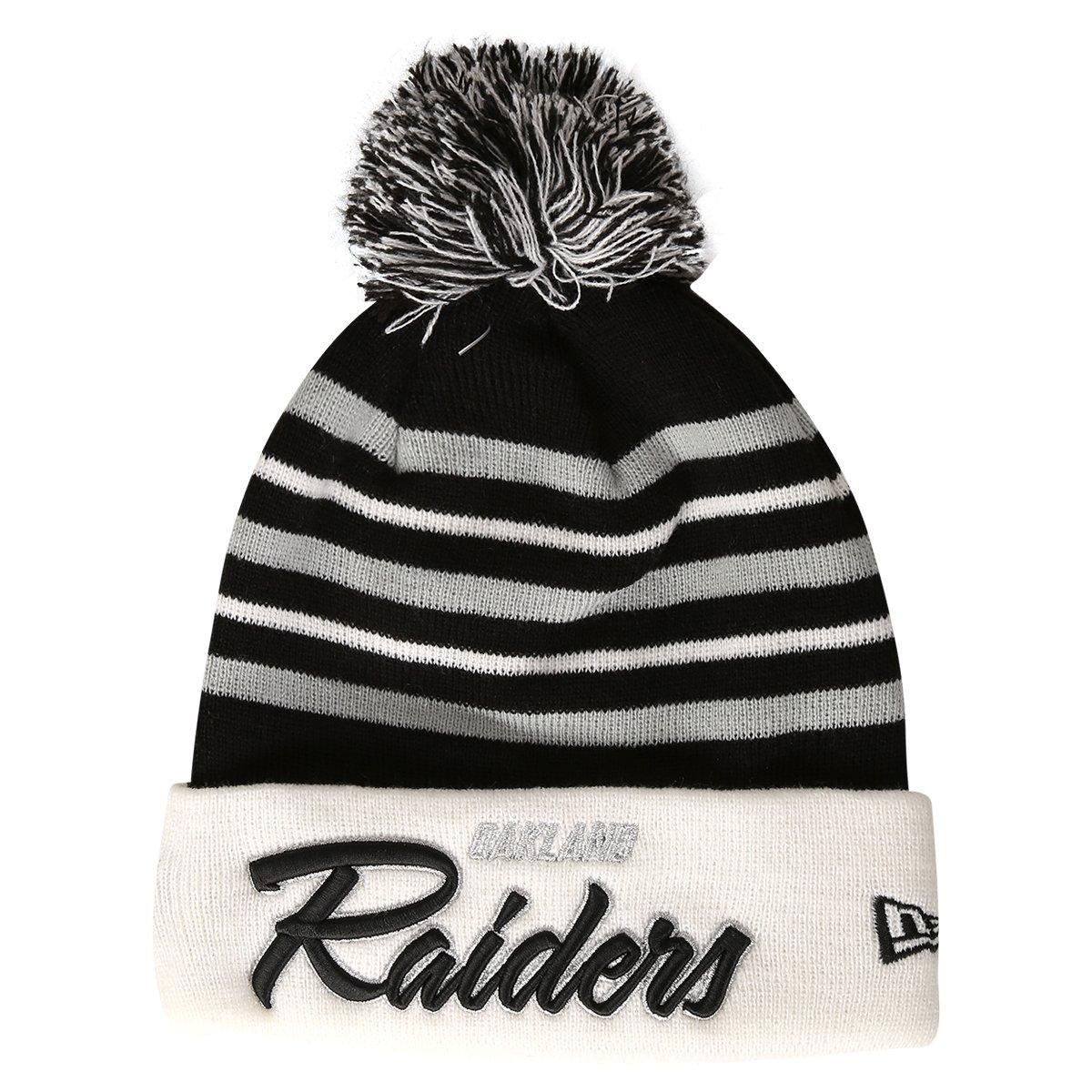 2c70dbb2bf3cb Gorro New Era NFL Pom Snow Stripe Oakland Raiders - Compre Agora ...