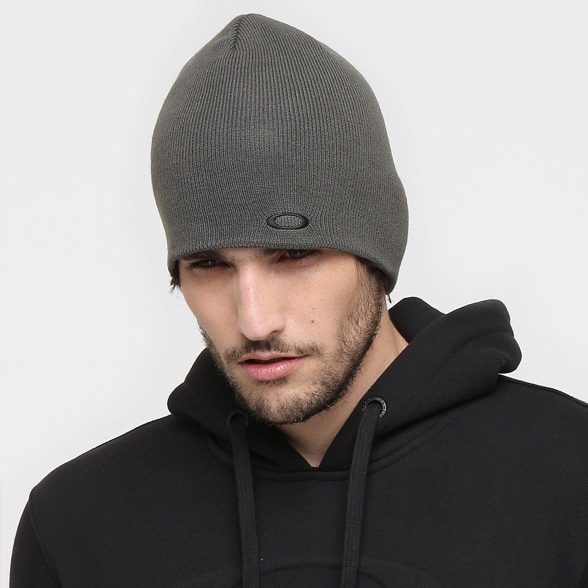 fa7e01cfcd540 Gorro Oakley Fine Knit Beanie Masculino - Cinza - Compre Agora ...