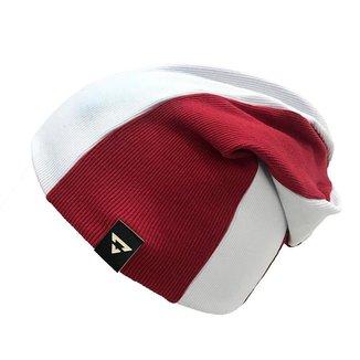 Gorro Touca Brohood Canelado Bicolor Branco Vermelho U