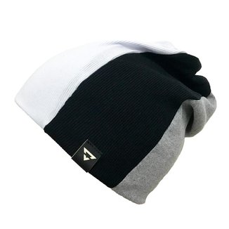 Gorro Touca Brohood Canelado Tricolor Branco Cinza Preto U