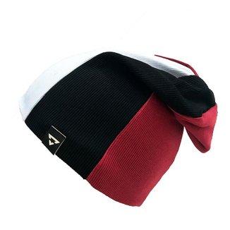 Gorro Touca Brohood Canelado Tricolor Branco Preto Vermelho U