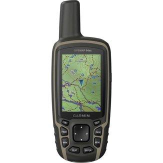 GPS Portátil Garmin GPSMAP 64sx Mapa TopoActive América do Sul Antena Helix Quádrupla Bluetooth