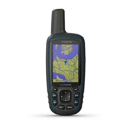GPS Portátil Garmin GPSMAP 64x GPS/GLONASS com Mapa TopoActive América do Sul, com Antena Helix Quád - Laranja
