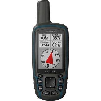 GPS Portátil Garmin GPSMAP 64x Mapa TopoActive América do Sul Antena Helix Quádrupla