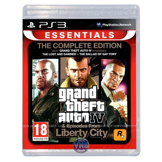 Grand Theft Auto IV The Complete Edition - PS3 - Incolor