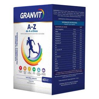 Granvit A-Z de A a Zinco Polivitamínico com 60 cápsulas
