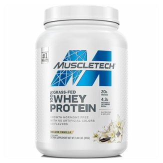 GRASS FED 100% WHEY PROTEIN 800 G - MUSCLETECH (DELUXE VANILLA)