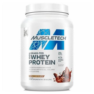GRASS FED 100% WHEY PROTEIN 800 G - MUSCLETECH (TRIPLE CHOCOLATE)