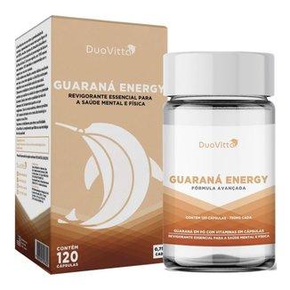 Guaraná Energy 750mg + Energia E Disposição Duovitta 120 Cap