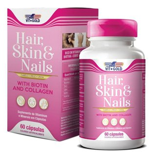 Hair Skin & Nails Cabelo, pele e unhas Vitgold 60 cápsulas