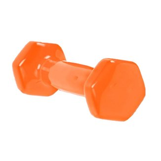 Halter Bravus Sport Sextavado Emborrachado 3kg Musculação