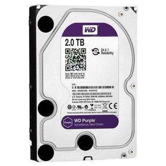 HD 2 TB SATA 3 - 5400RPM - 64MB Cache - Western Digital Purple Surveillance - WD20PURZ