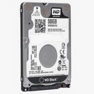 HD 500GB para Notebook Western Digital Black - 7200RPM - 7.0 mm - WD5000LPLX