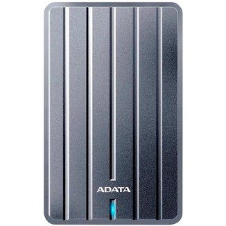 HD Externo 1TB Portátil Adata HC660 - Ultra Slim - USB 3.2 - Cinza - AHC660-1TU31-CGY