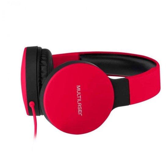Headphone Dobrável New Fun P2 Multilaser - Vermelho