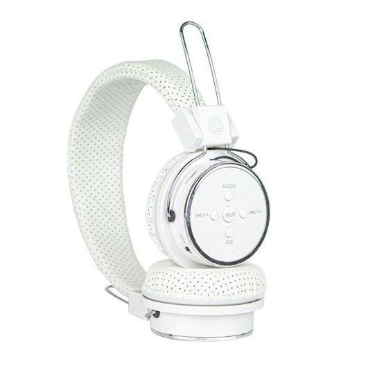 Headphone Fone de Ouvido Bluetooth Estéreo Sem Fio Com Rádio Fm - Branco