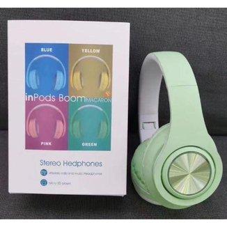 Headphone Inpods Boom Led Bluetooth Wireless Micro Sd