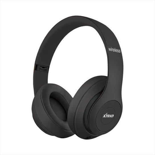 Headphone XTRAD Sem Fio Extra Bass Bluetooth - Preto