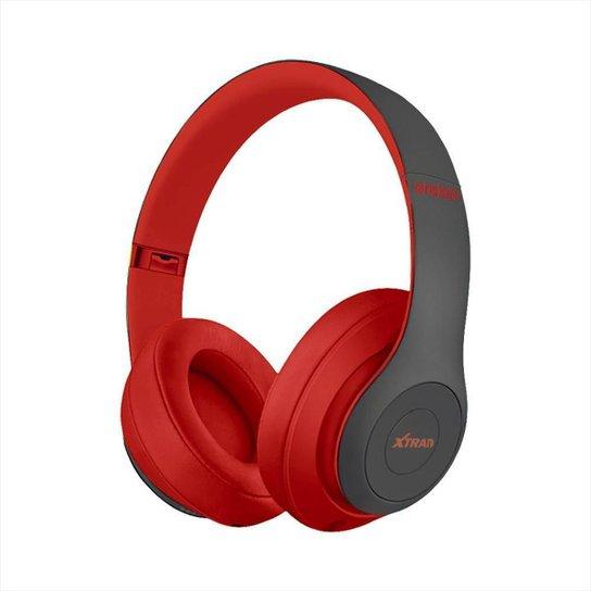 Headphone XTRAD Sem Fio Extra Bass Bluetooth - Vermelho