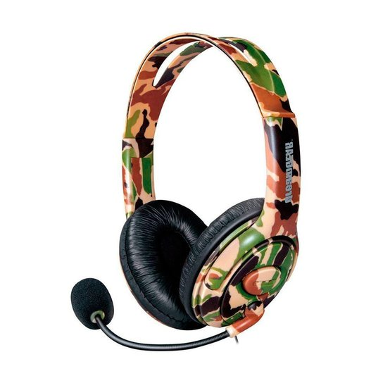 Headset DreamGEAR X-Talk One Camuflado com Fio - Xbox One e PS4 - Bege+Verde