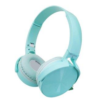 Headset Fone Com Microfone Microsd P2 Bluetooth Azul P36