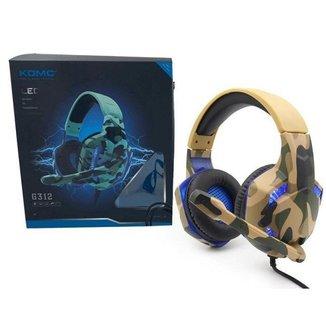 Headset Fone de Ouvido Gamer  G312 Camuflado