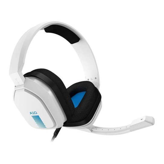 Headset Gamer Astro A10 PS4 Xbox One PC MAC - Branco