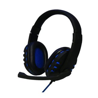 Headset Gamer Bit Hs206 Usb Oexgame Led Azul Microfone Preto