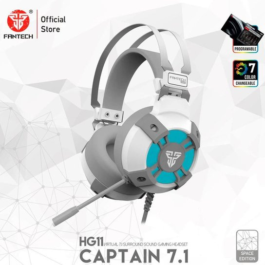 Headset Gamer Captain 7.1 USB Space Edition Fantech HG11 - Branco