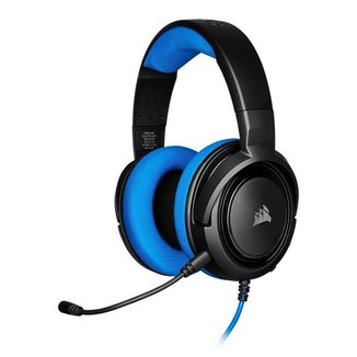 Headset Gamer Corsair HS35 Stereo PS4/PC/Mobile Preto/Azul Drivers 50mm, CA-9011196-NA