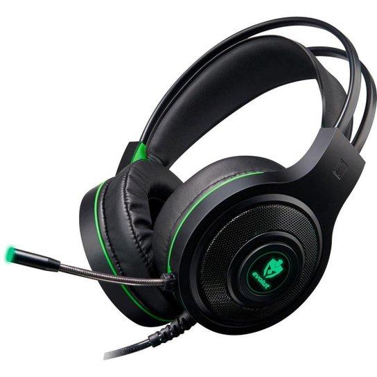Headset Gamer Evolut EG301GR/Têmis Preto/Verde - Verde