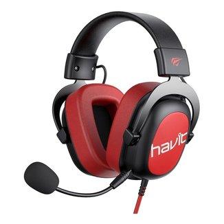 HeadSet Gamer Fone de Ouvido Havit H2002D Vermelho 3.5mm com Microfone Removível