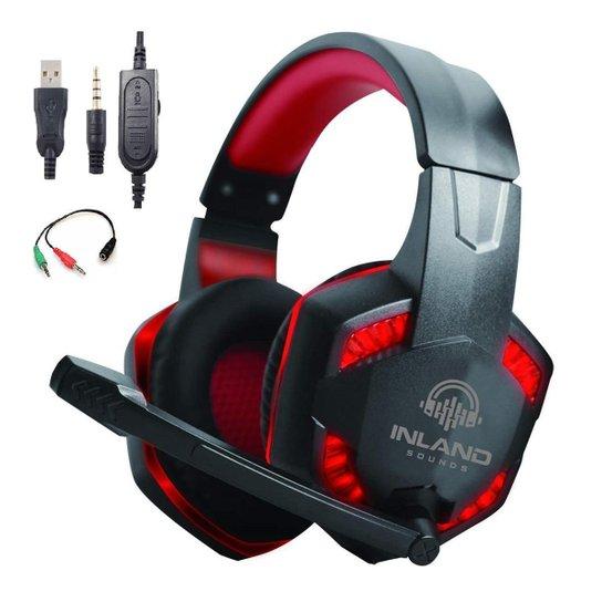Headset Gamer  Fone de Ouvido Microfone HS884RD PC PS4 Xbox - Vermelho