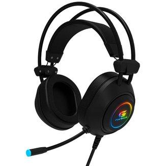 Headset Gamer Fortrek Crusader - LED RGB - Conector USB e 3.5mm - Preto - 70555