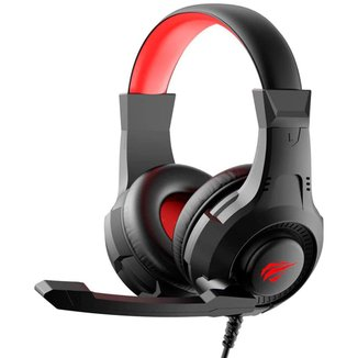 Headset Gamer Havit HV-H2031D - Microfone - LED - Conector P2 e USB para iluminação