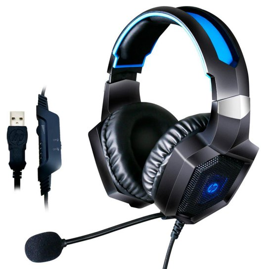 Headset Gamer HP H320GS - 7.1 Surround - Conector USB - Iluminação LED - 8AA14AA - Única