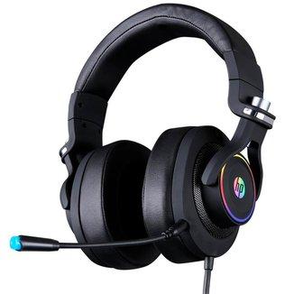 Headset Gamer HP H500GS 7.1 Surround - LED RGB - Controle de Volume no Cabo - Conector USB