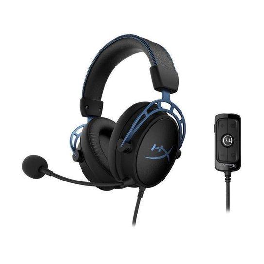 Headset Gamer HyperX PC e Mobile 7.1 USB P2 - Preto+Azul