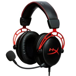 Headset Gamer Kingston HyperX Cloud Alpha - Cabo e Microfone Destacável - Conector P2 - HX-HSCA-RDAM