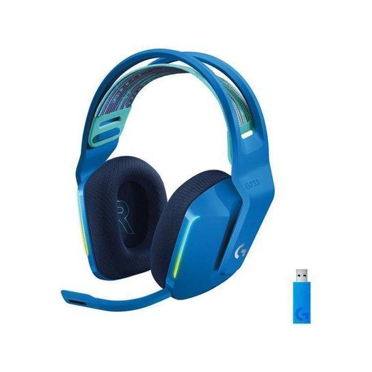 Headset Gamer Logitech G733 PC MAC PS4 sem Fio - Azul