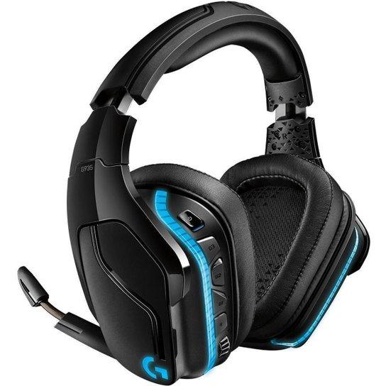 Headset Gamer Logitech G935, Sem Fio, RGB, Som Surround 7.1, Drivers Pro-G de 50mm - Preto+Azul
